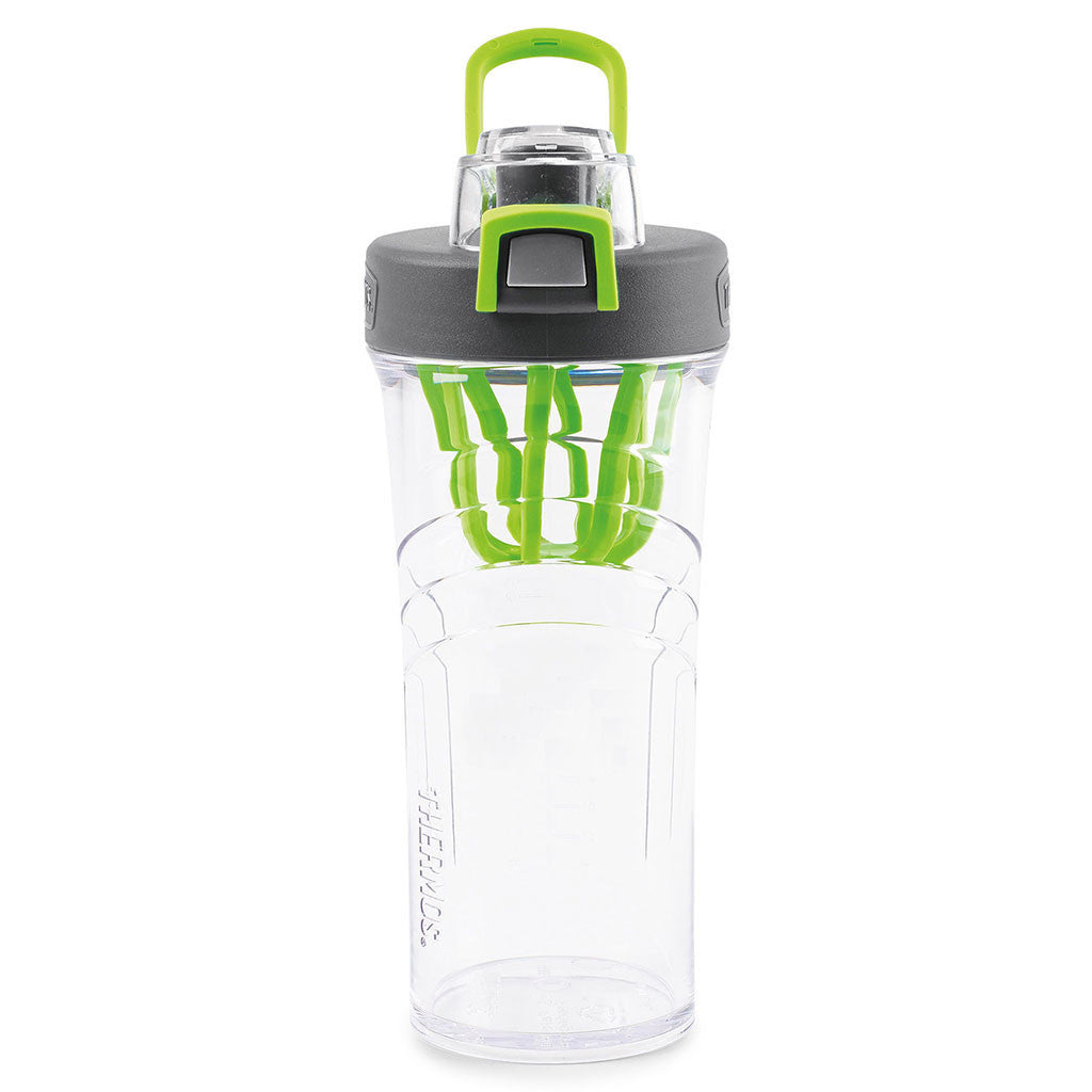Thermos Green Shaker Bottle with Integrated Mixer- 24 oz.
