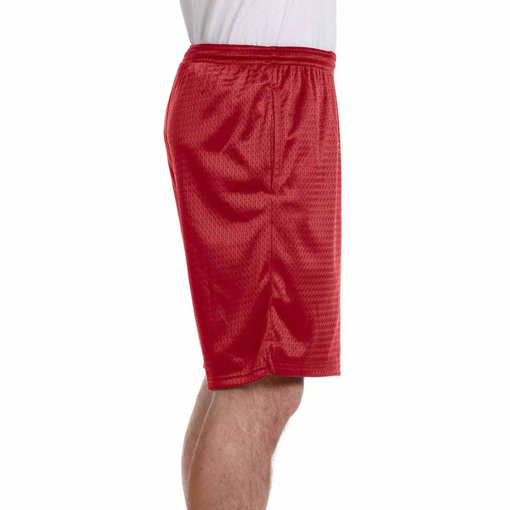 Champion Men's Scarlet 3.7-Ounce Mesh Short with Pockets