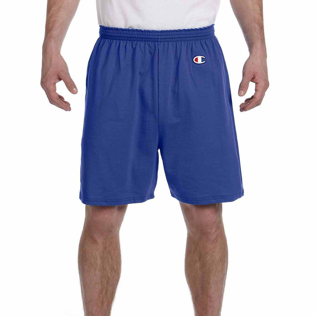 Champion Men's Royal Blue 6-Ounce Cotton Gym Short