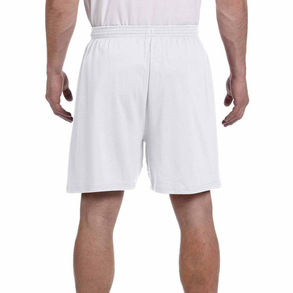 Champion Men's Silver Grey 6-Ounce Cotton Gym Short