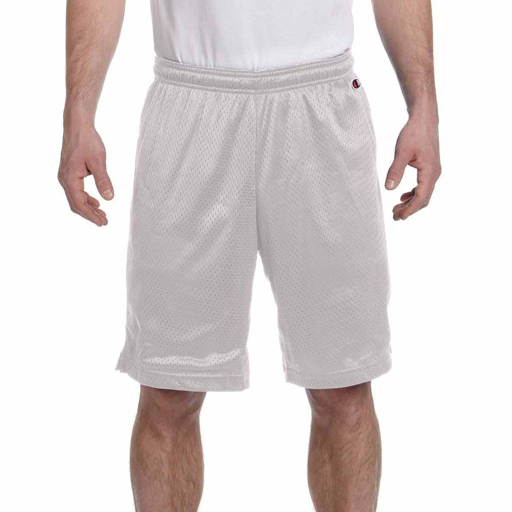 Champion Men's Athletic Grey 3.7-Ounce Mesh Short