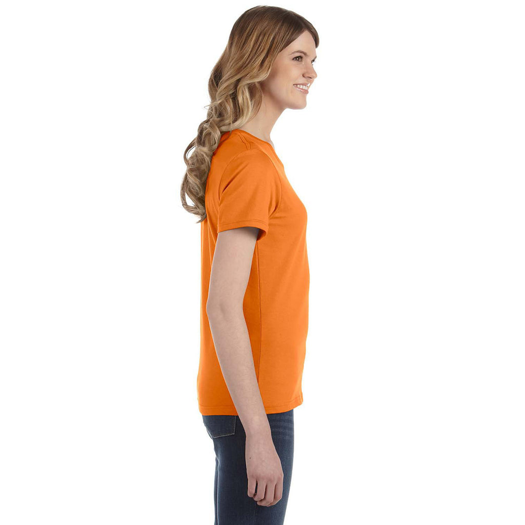 Anvil Women's Orange Lightweight T-Shirt