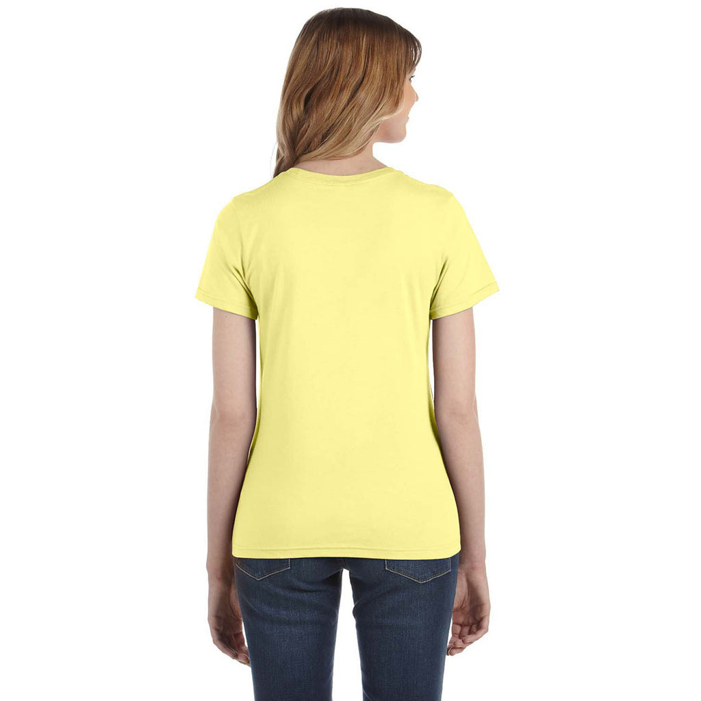 Anvil Women's Spring Yellow Lightweight T-Shirt