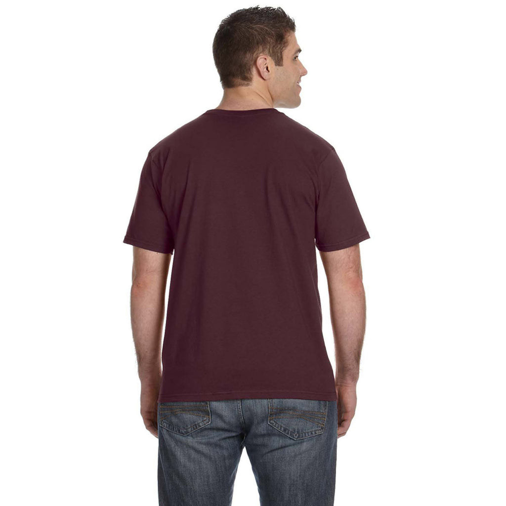 Anvil Men's Maroon Lightweight T-Shirt