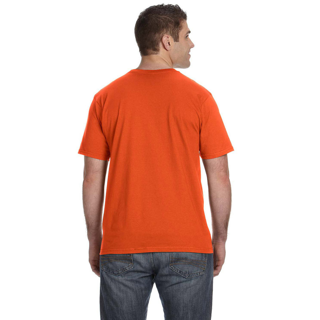 Anvil Men's Orange Lightweight T-Shirt