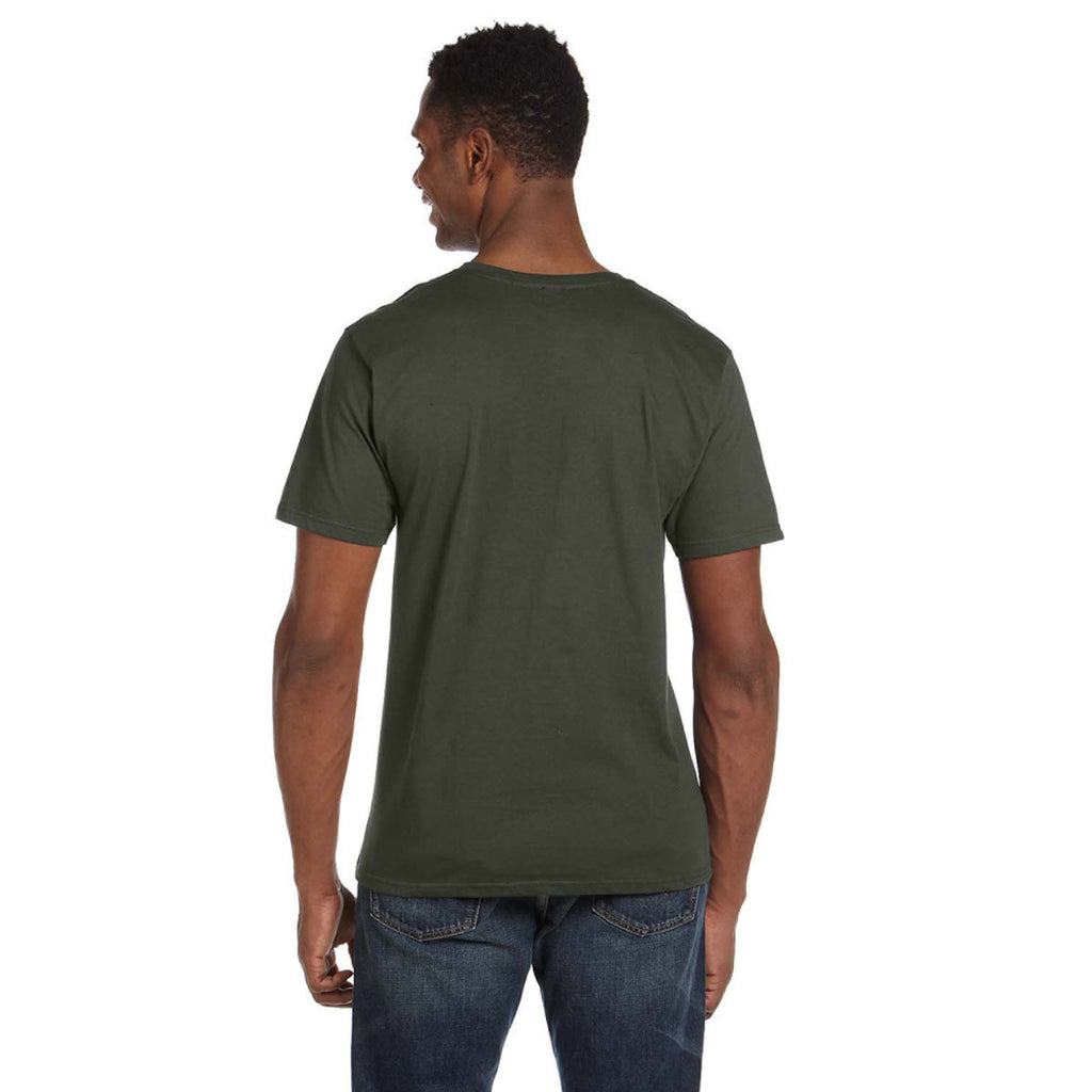 Anvil Men's City Green Lightweight V-Neck T-Shirt