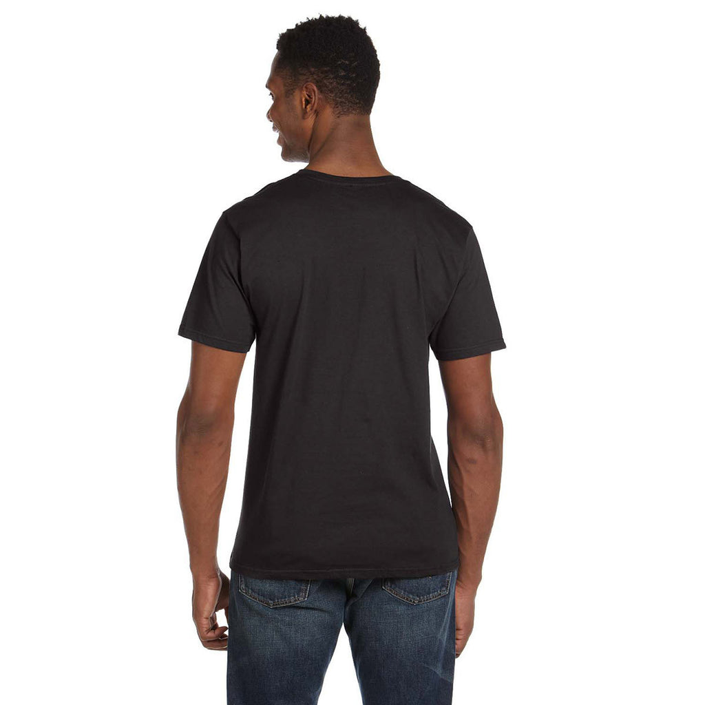 Anvil Men's Smoke Lightweight V-Neck T-Shirt