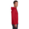 Anvil Men's Red Lightweight Long-Sleeve Hooded T-Shirt