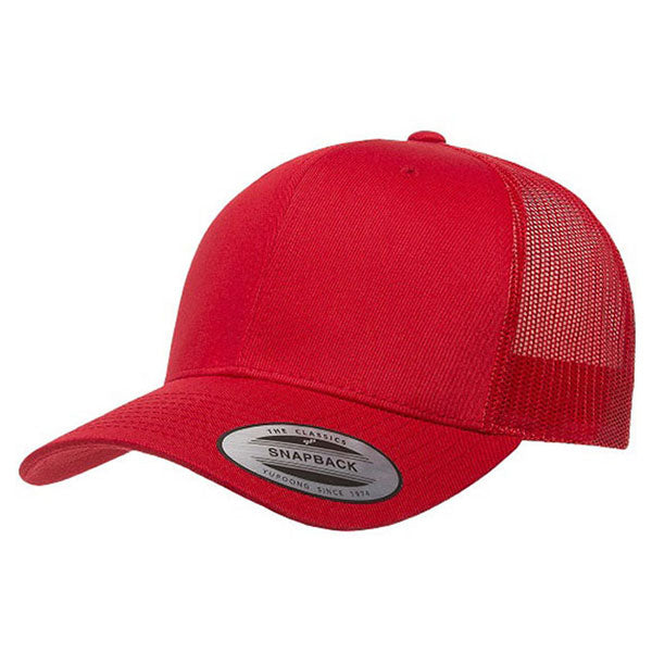 ed53a071301 Yupoong Red Classic Retro Trucker Cap