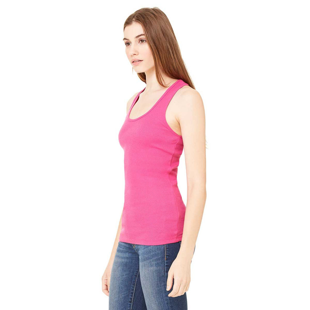 Bella + Canvas Women's Berry 2x1 Rib Racerback Longer Length Tank