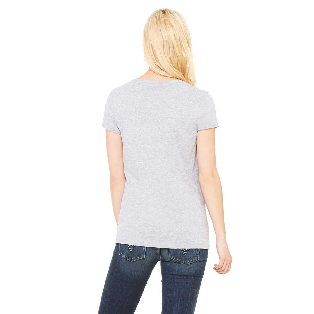 Bella + Canvas Women's Athletic Heather Jersey Short-Sleeve V-Neck T-Shirt