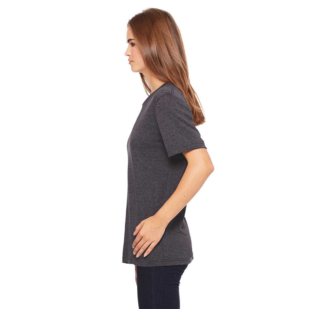Bella + Canvas Women's Dark Grey Heather Relaxed Jersey Short-Sleeve T-Shirt