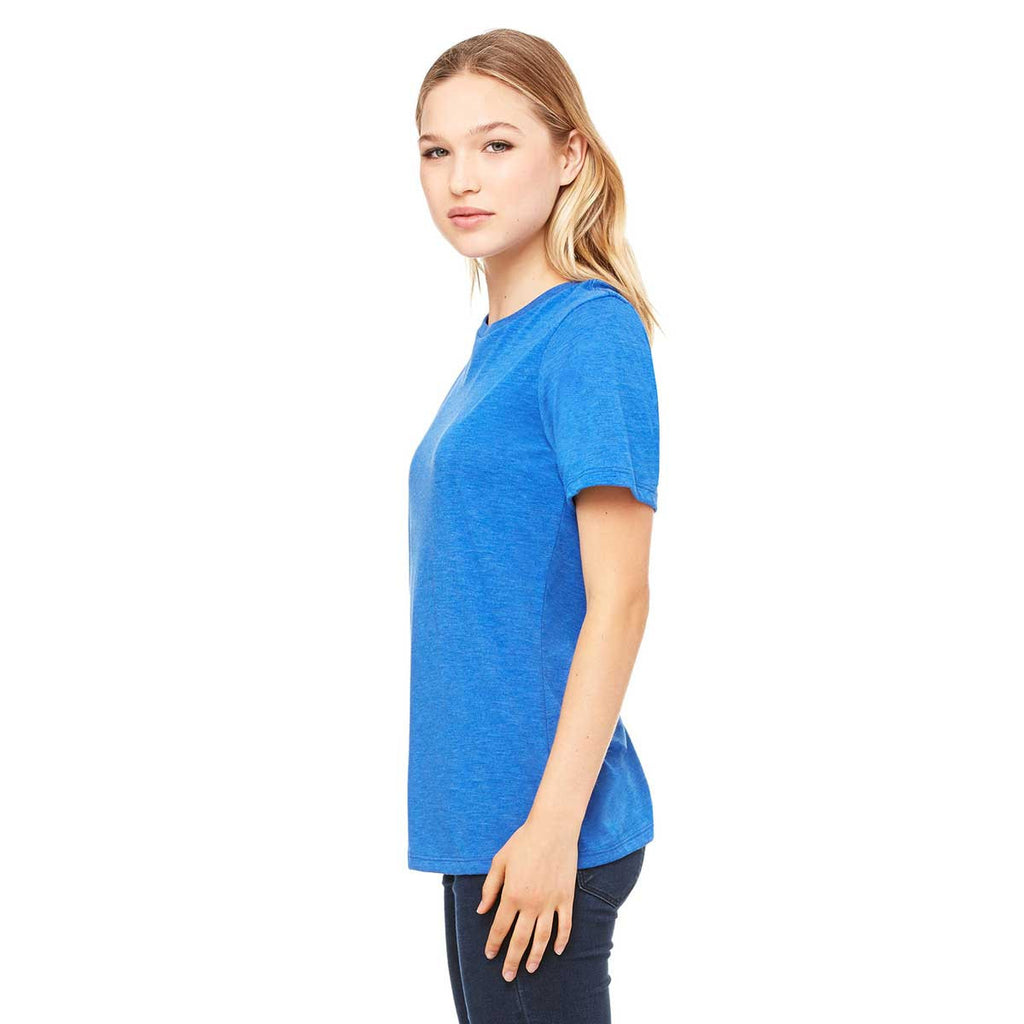 Bella + Canvas Women's True Royal Triblend Relaxed Jersey Short-Sleeve T-Shirt