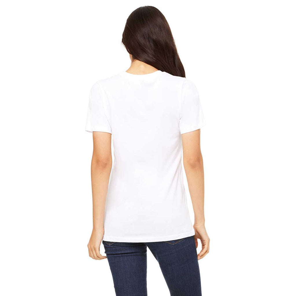 Bella + Canvas Women's White Relaxed Jersey Short-Sleeve T-Shirt