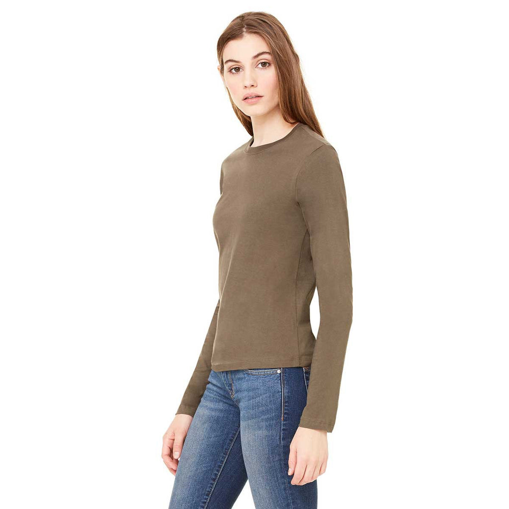 Bella + Canvas Women's Army Jersey Long-Sleeve T-Shirt