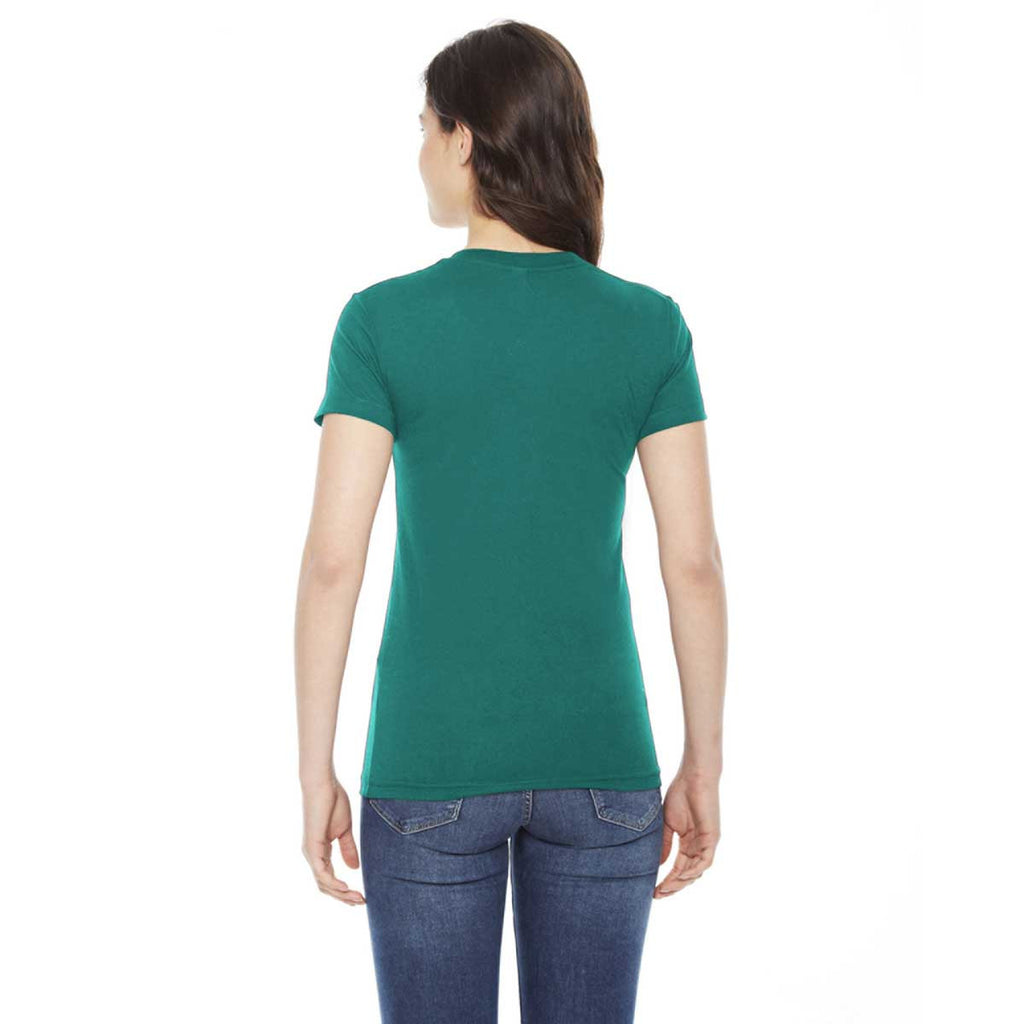 American Apparel Women's Evergreen Poly-Cotton Short-Sleeve Crewneck