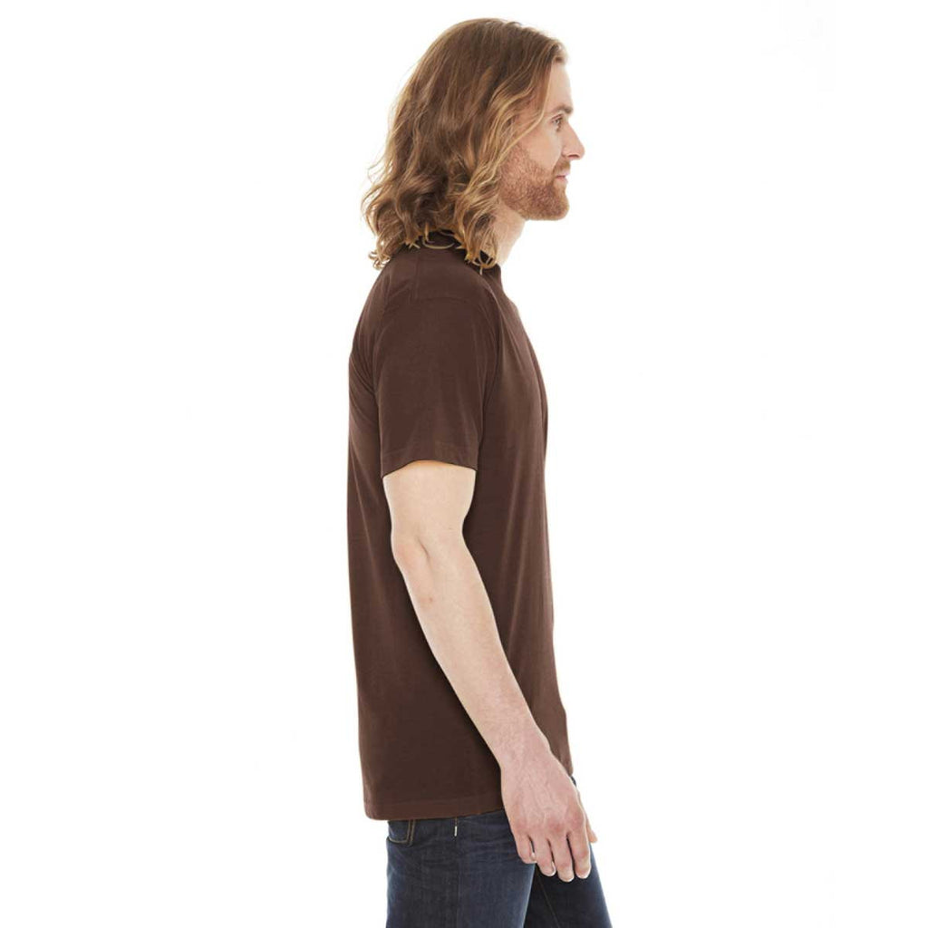 American Apparel Unisex Brown 50/50 Short Sleeve Tee