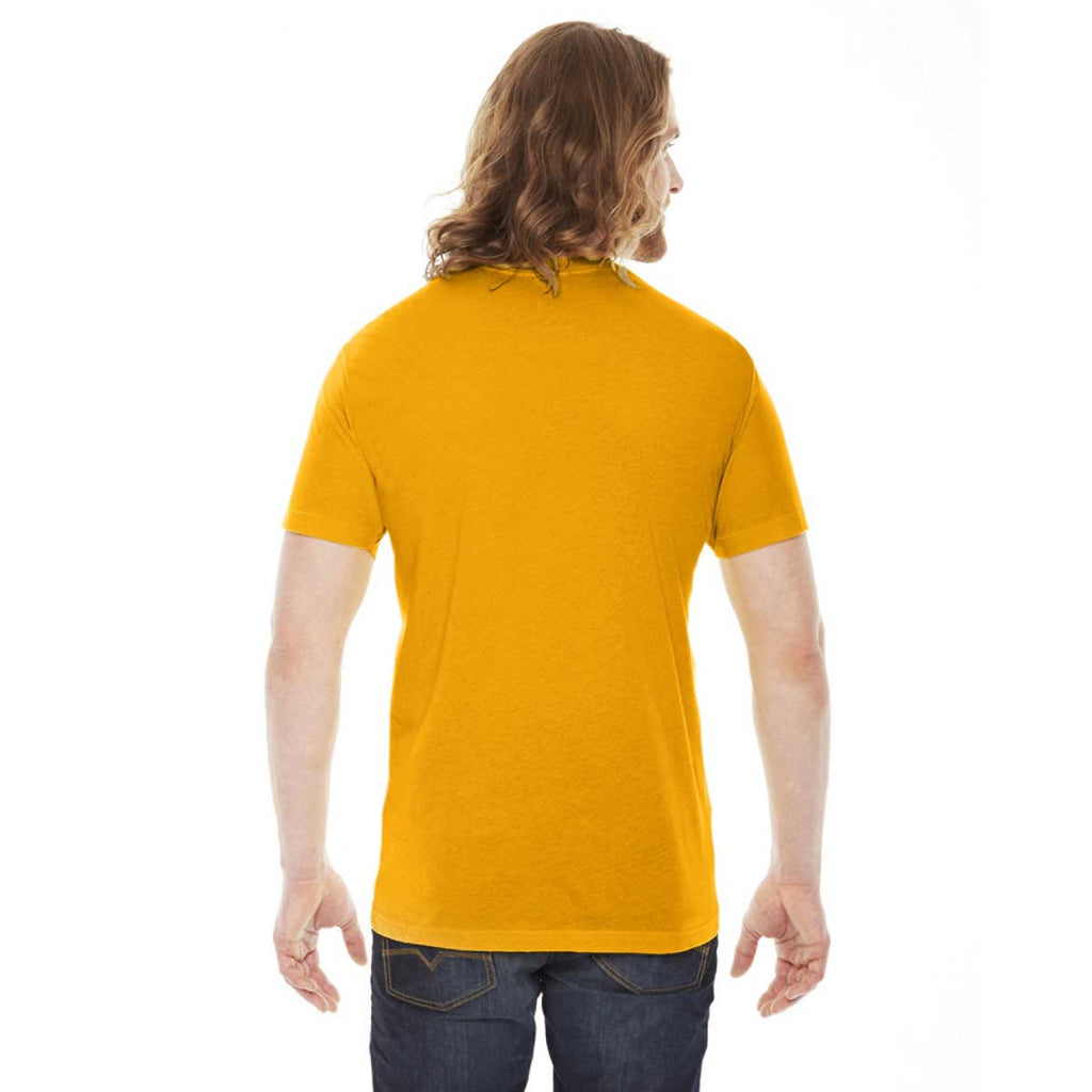 American Apparel Unisex Gold 50/50 Short Sleeve Tee
