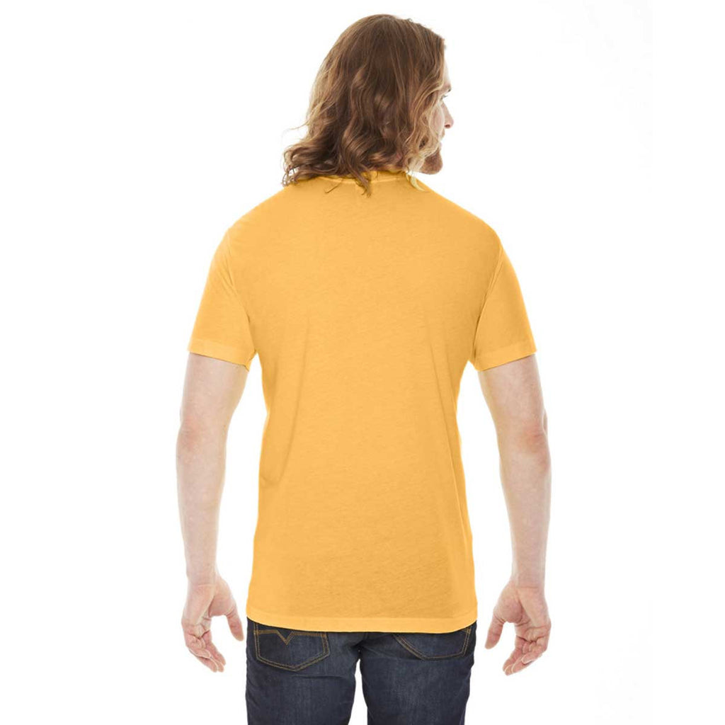 American Apparel Unisex Heather Gold 50/50 Short Sleeve Tee