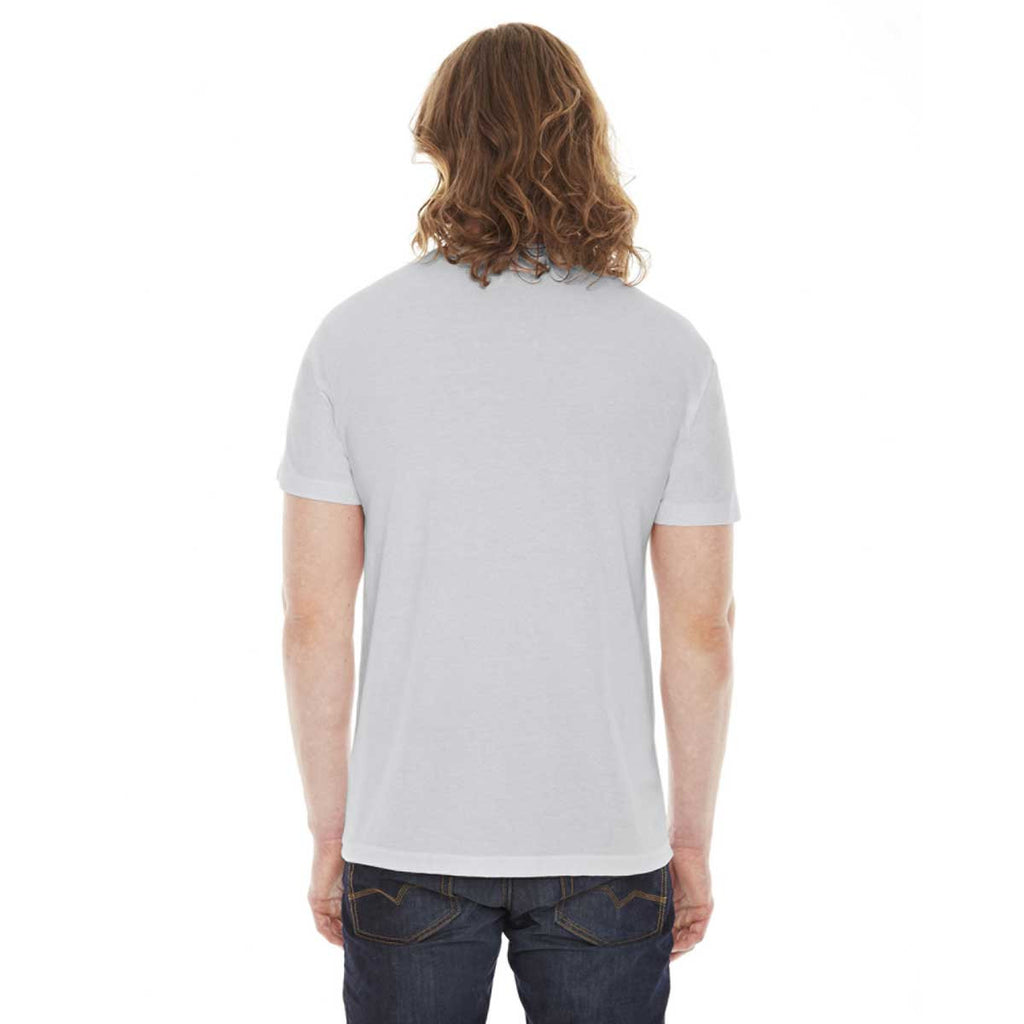 American Apparel Unisex New Silver 50/50 Short Sleeve Tee