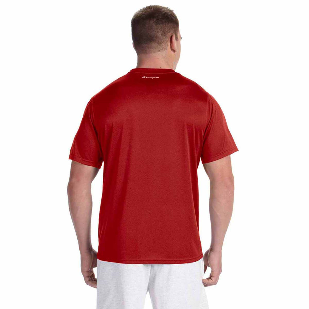 Champion Men's Scarlet Heather Vapor 4-Ounce T-Shirt