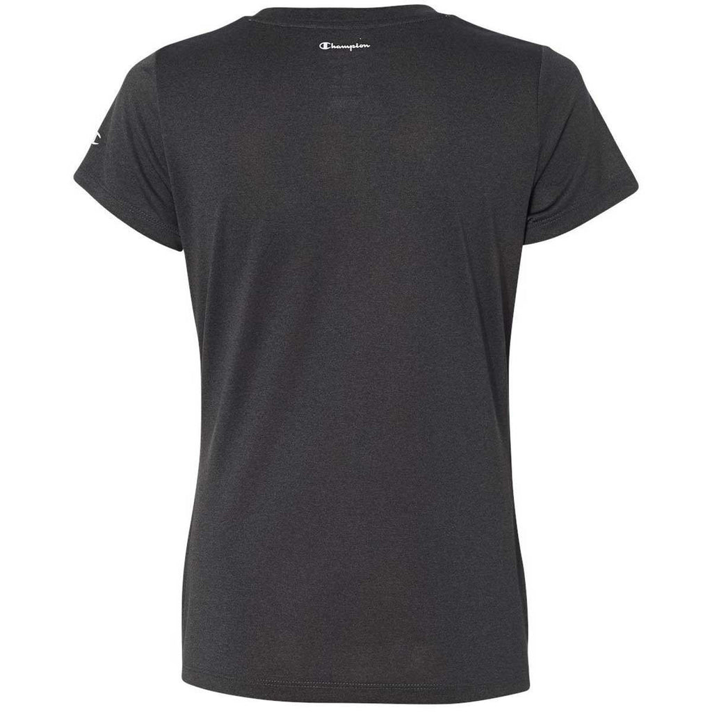 Champion Women's Black Heather Vapor 4-Ounce T-Shirt