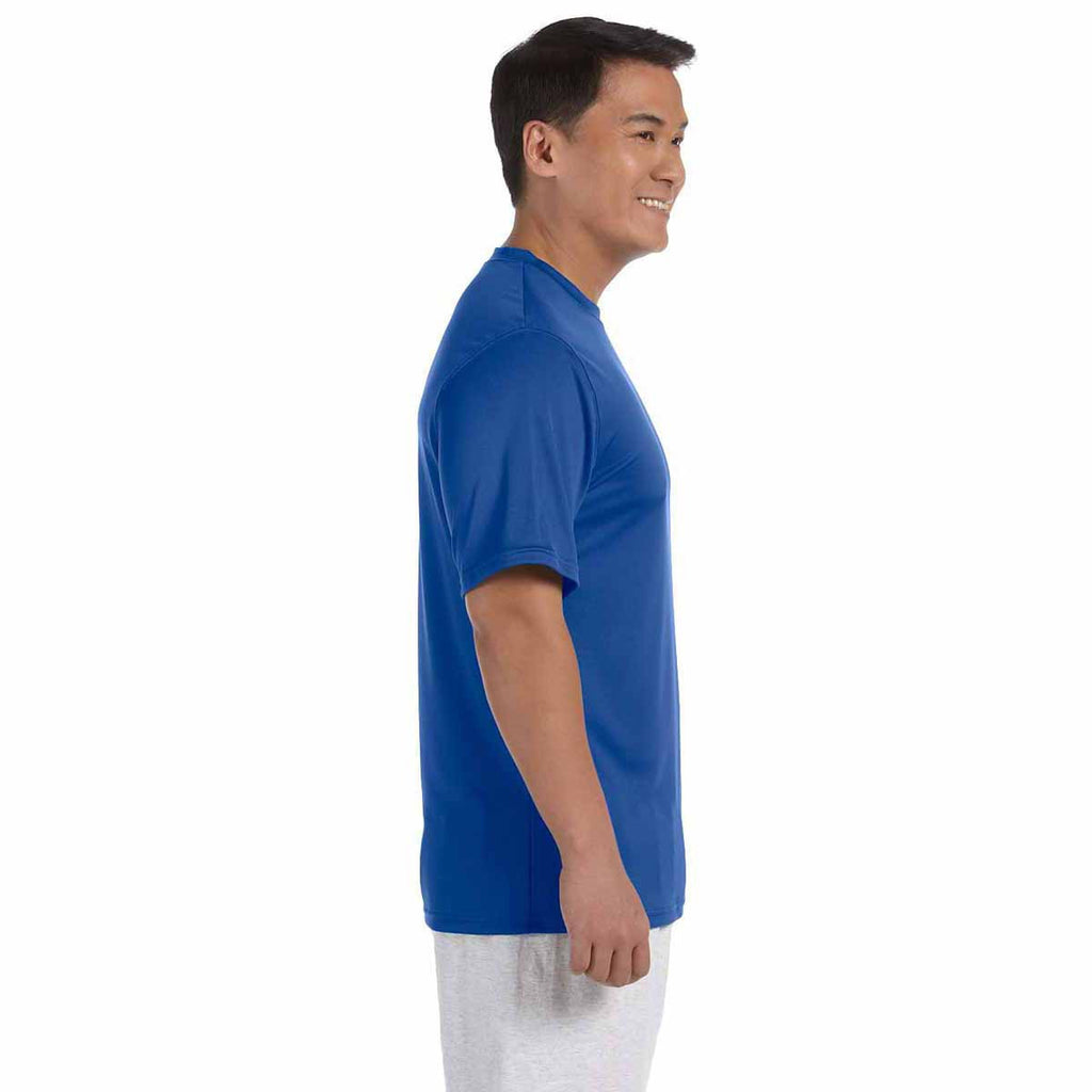 Champion Men's Royal Blue Double Dry 4.1-Ounce Interlock T-Shirt