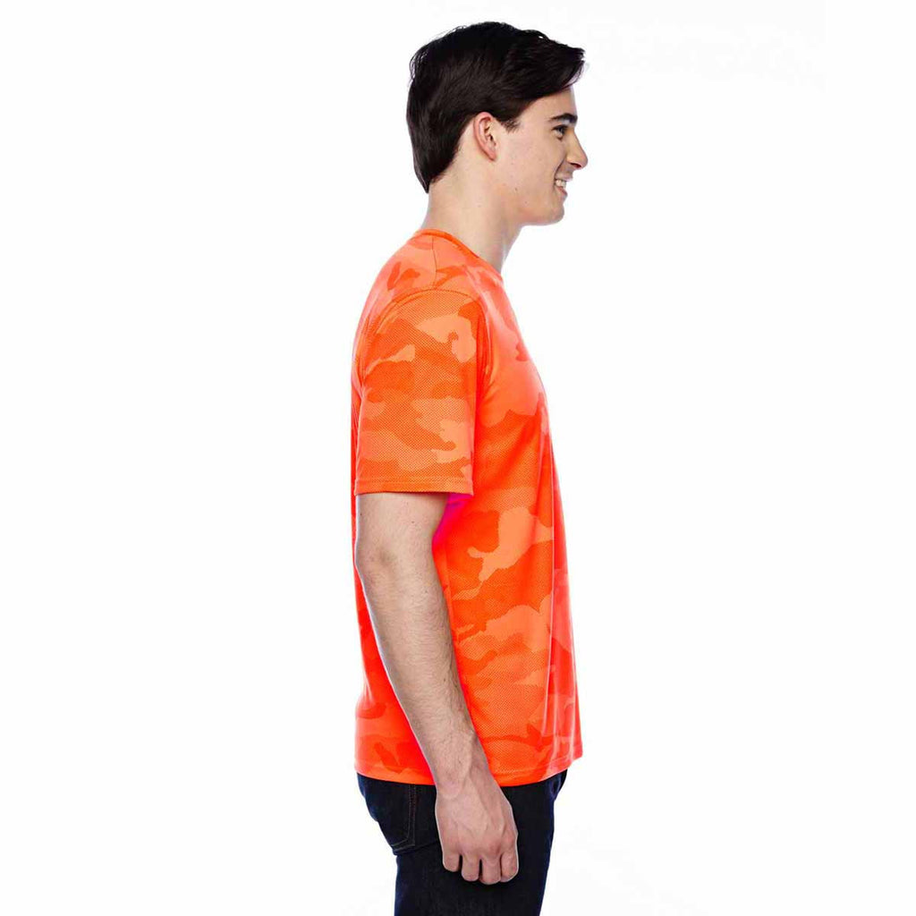 Champion Men's Safety Orange Camo Double Dry 4.1-Ounce Interlock T-Shirt