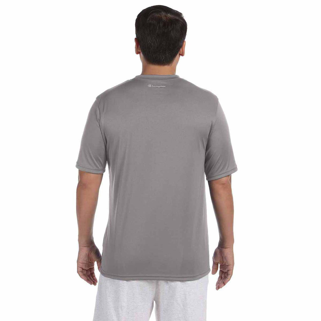 Champion Men's Stone Grey Double Dry 4.1-Ounce Interlock T-Shirt