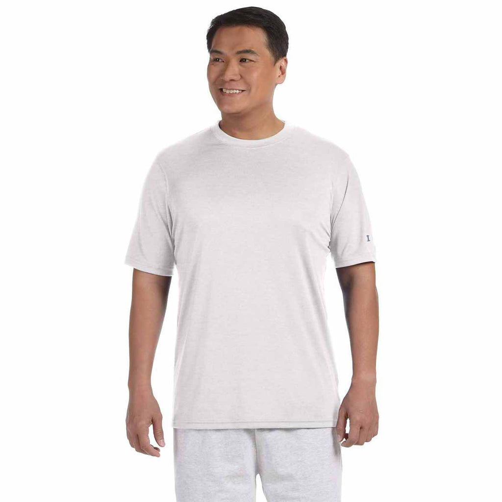 Champion Men's White Double Dry 4.1-Ounce Interlock T-Shirt