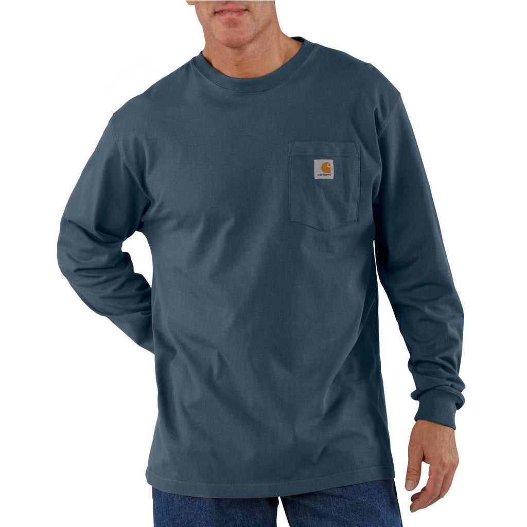 Carhartt Men's Bluestone Workwear Pocket Long Sleeve T-Shirt