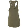 Next Level Women's Military Green Ideal Racerback Tank