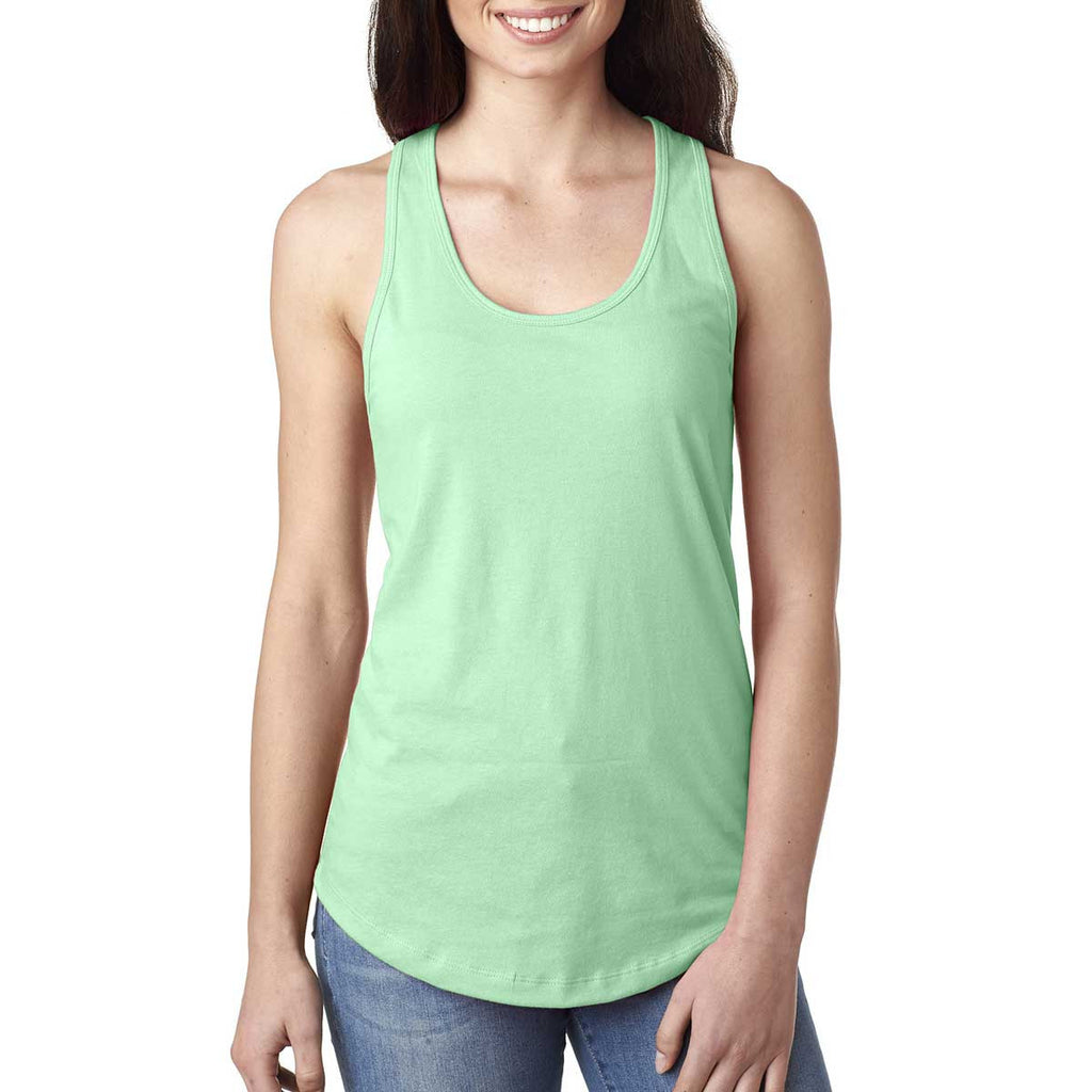 Next Level Women's Mint Ideal Racerback Tank
