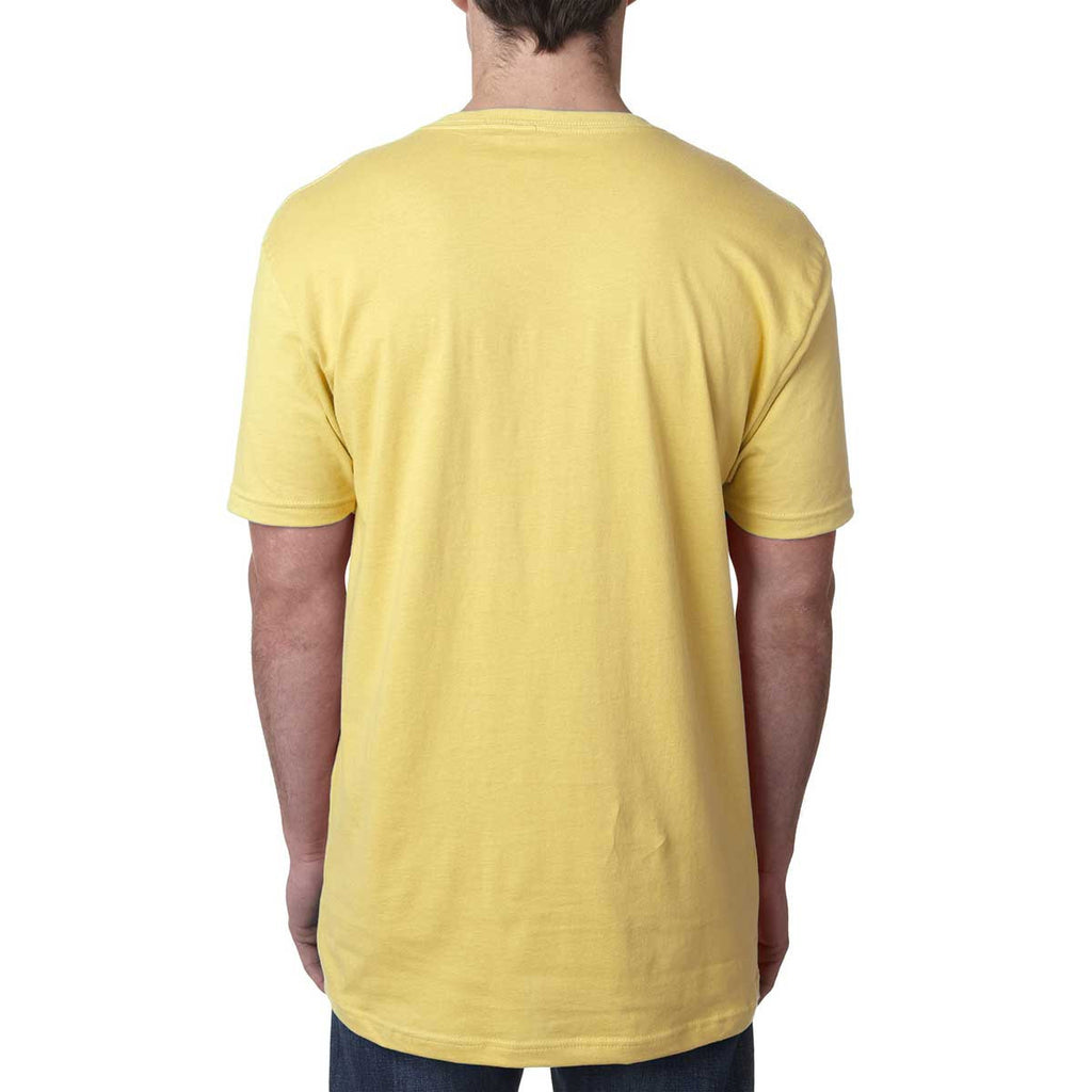 Next Level Men's Banana Cream Premium Fitted Short-Sleeve V-Neck Tee