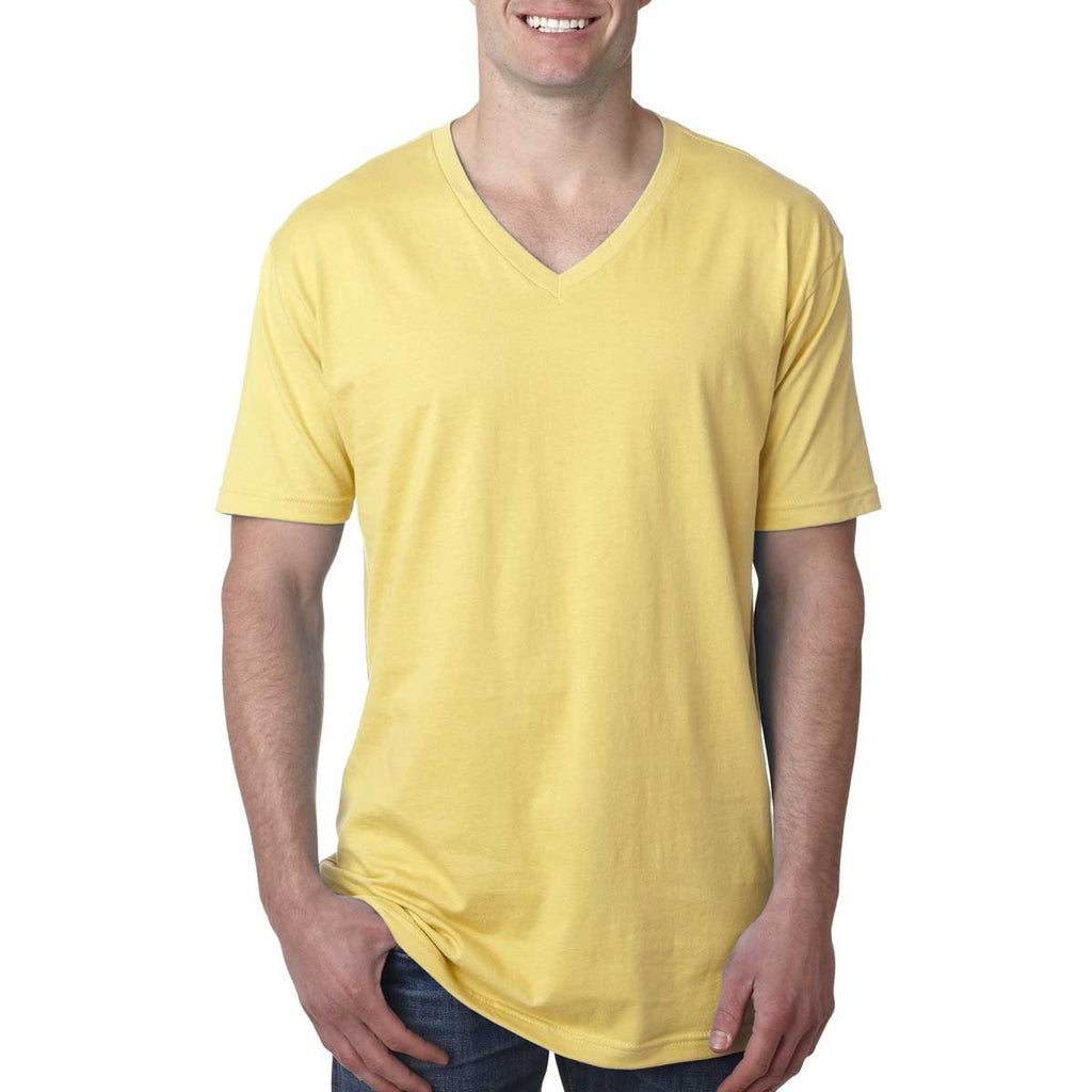 N3200 Next Level Men's Banana Cream Premium Fitted Short-Sleeve V-Neck Tee