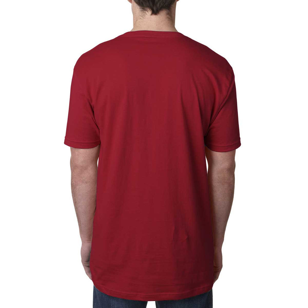 Next Level Men's Cardinal Premium Fitted Short-Sleeve V-Neck Tee