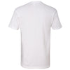 Next Level Men's White Premium Fitted Short-Sleeve V-Neck Tee