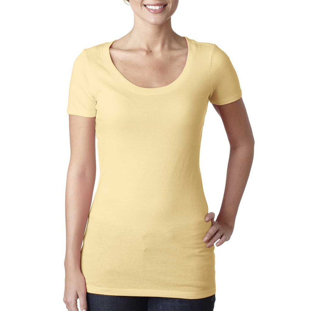 N3530 Next Level Women's Banana Cream Scoop Neck Tee