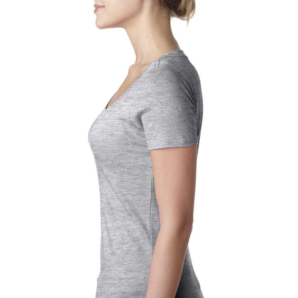 Next Level Women's Heather Gray Scoop Neck Tee