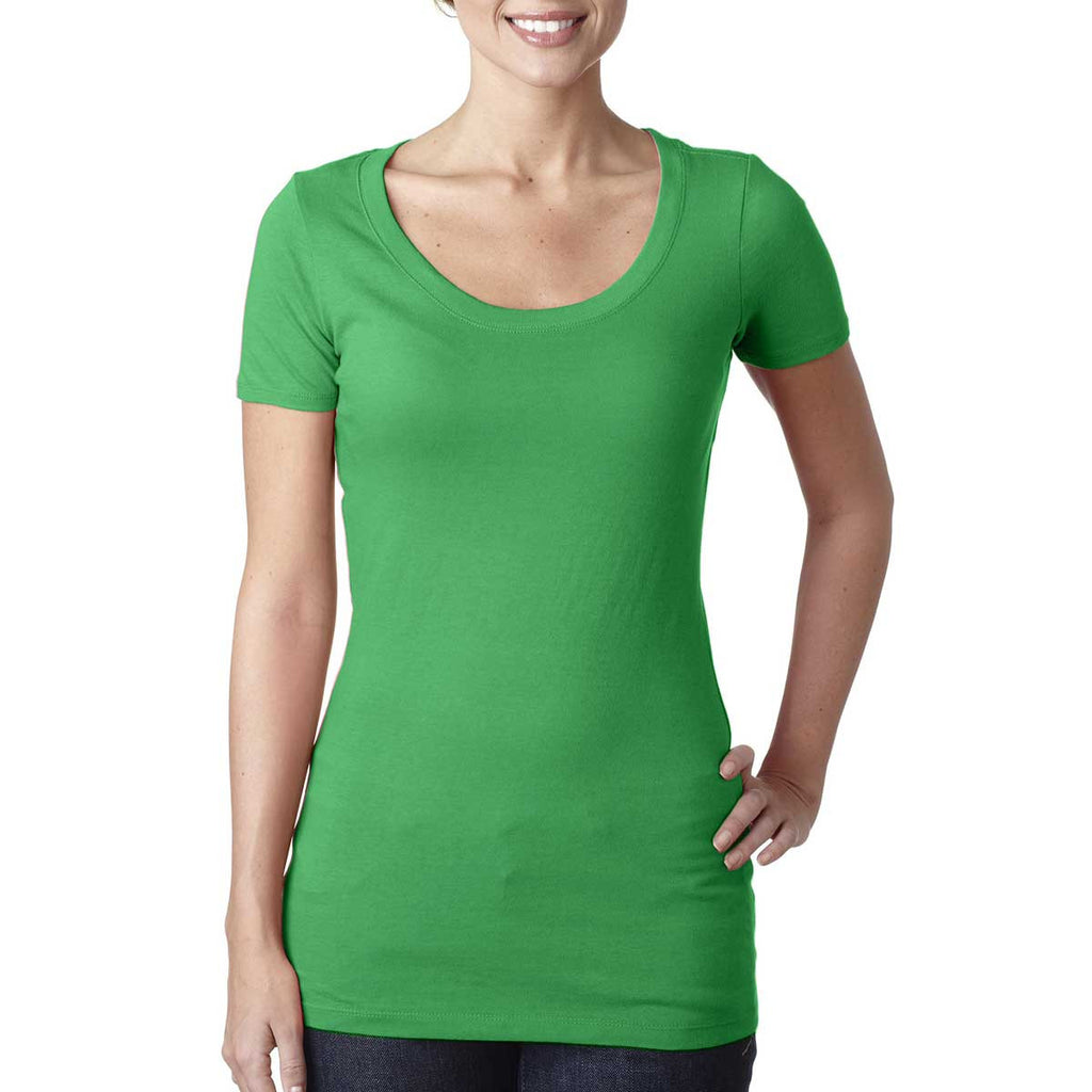N3530 Next Level Women's Kelly Green Scoop Neck Tee