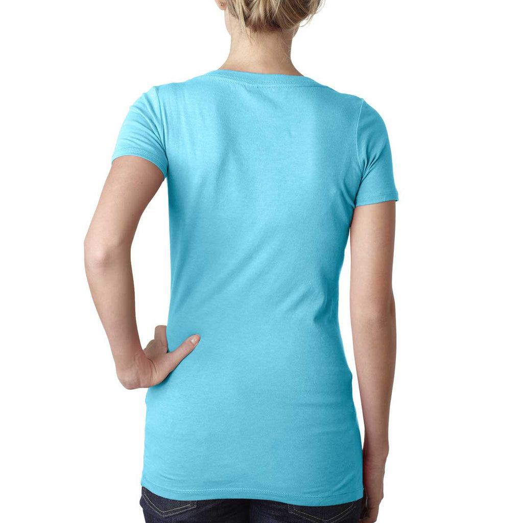 Next Level Women's Tahiti Blue Scoop Neck Tee