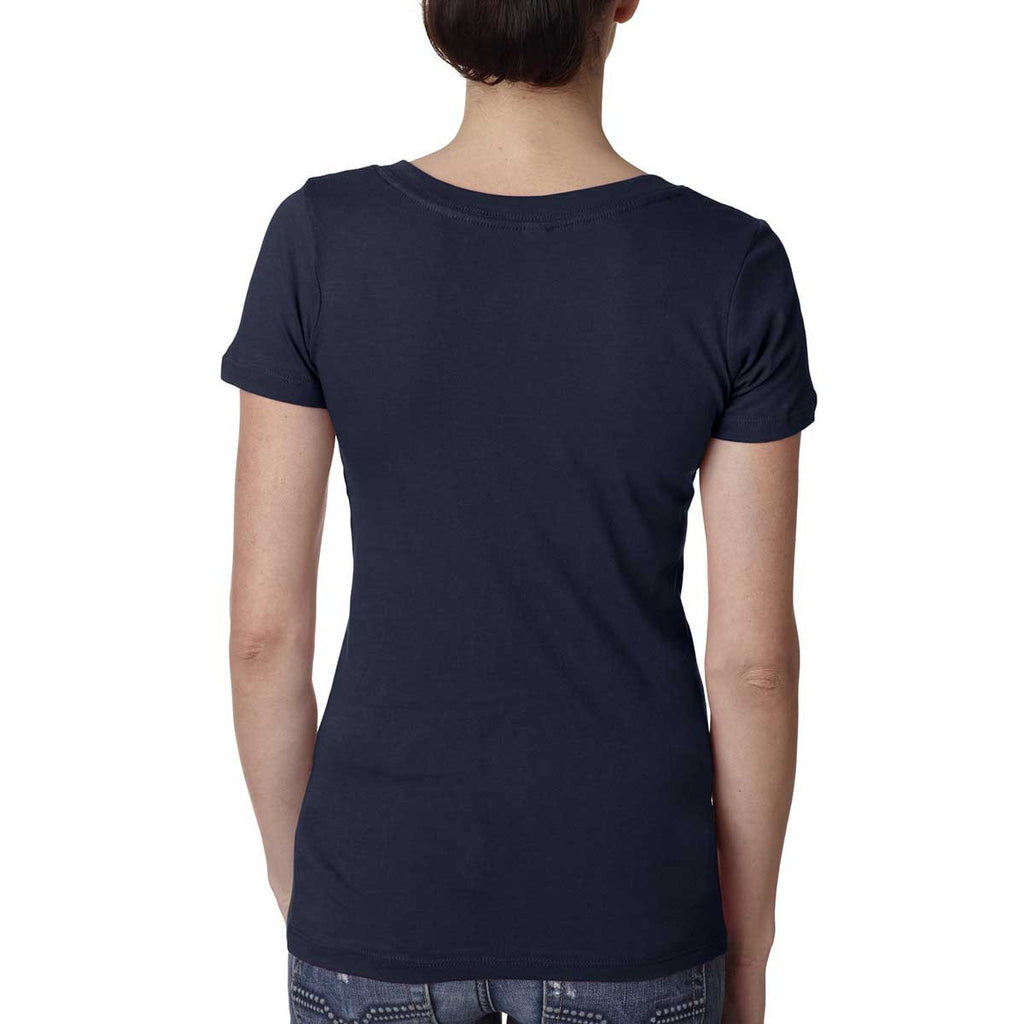 Next Level Women's Midnight Navy Deep V-Neck Tee