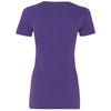 Next Level Women's Purple Rush Deep V-Neck Tee