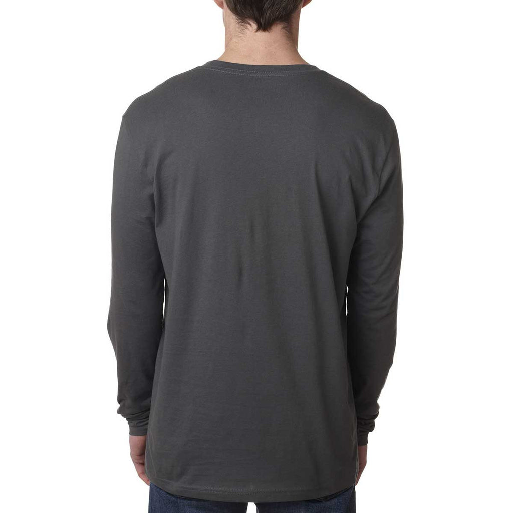 Next Level Men's Heavy Metal Premium Fitted Long-Sleeve Crew Tee