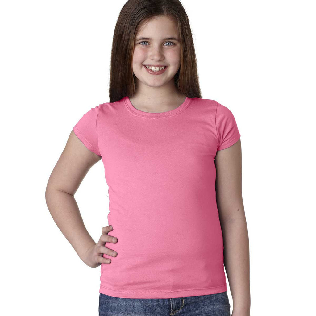 Next Level Girl's Hot Pink Princess Tee