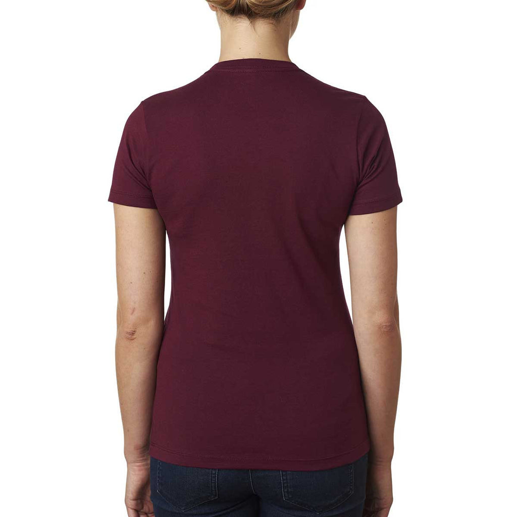 Next Level Women's Maroon Boyfriend Tee