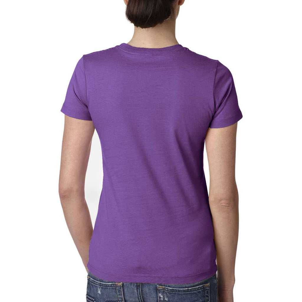 Next Level Women's Purple Berry Boyfriend Tee
