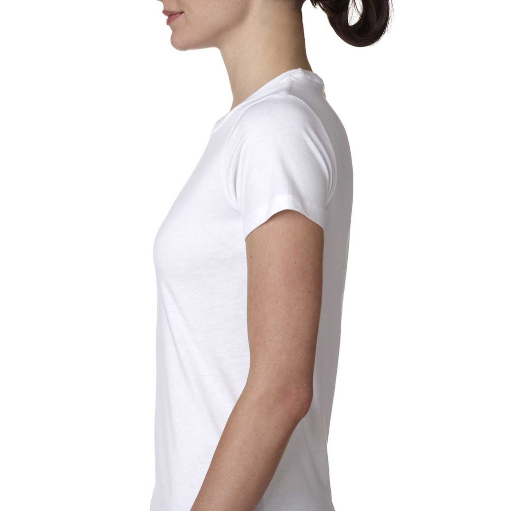 Next Level Women's White Boyfriend Tee