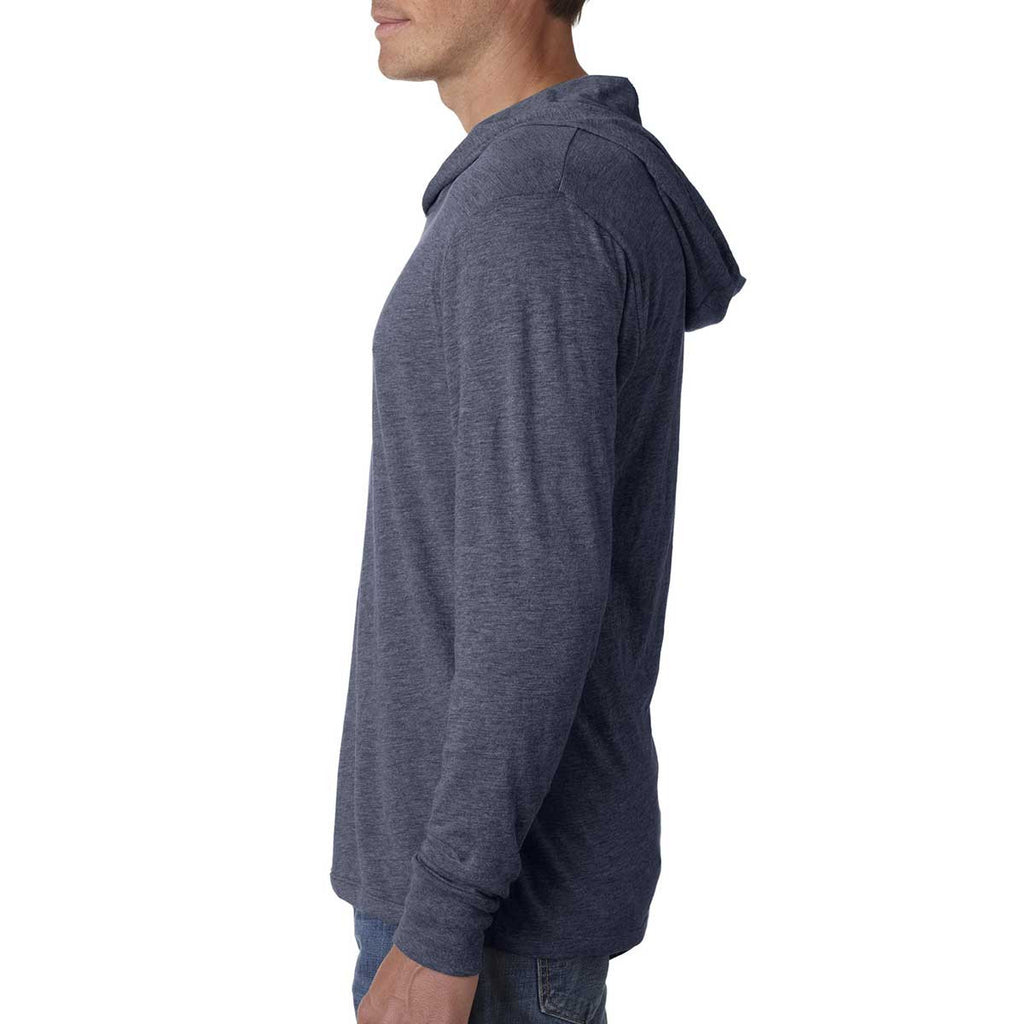 Next Level Unisex Indigo Triblend Long Sleeve Hoodie