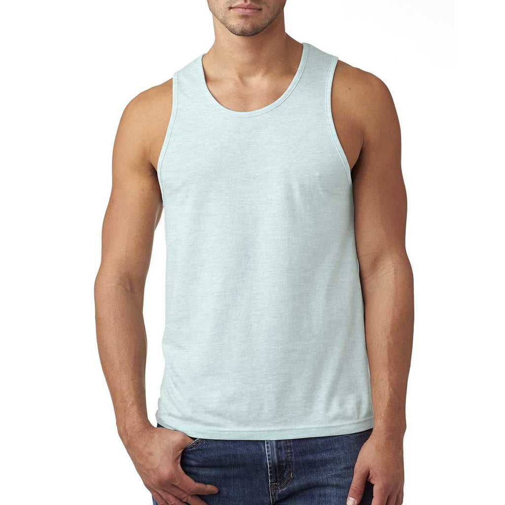 Next Level Men's Ice Blue Premium Fitted CVC Tank